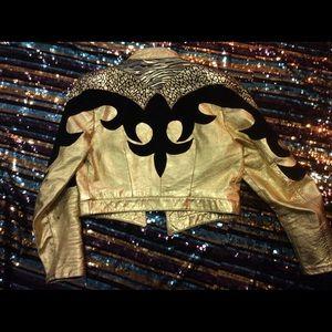 Other - Julian k matador gold black leather vintage